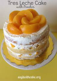 layered tres leches cake with peaches recipe peach layering