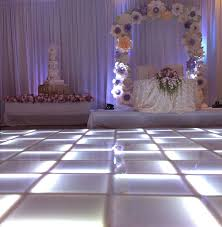 led floor rental led lighted floor white wedding look color changing flat