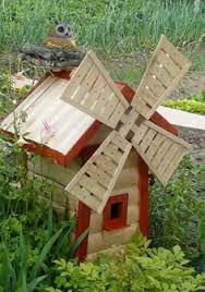 new 90cm wooden windmill garden ornament plant holder outdoor