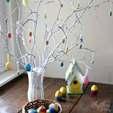 easter ornament tree how to make an easter tree centerpiece rhythms of play