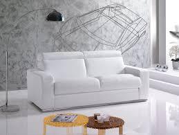 canape convertible tetiere canapé convertible en cuir blanc modèle dublin de vitarelax