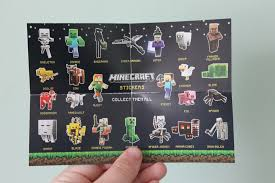 minecraft cards minecraft sticker cards pack opening and review me in