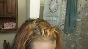 getting rid of red hair dye cut color blonde highlights