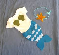 Infant Mermaid Halloween Costume Baby Mermaid Halloween Costume Turquoise Blue Green Baby