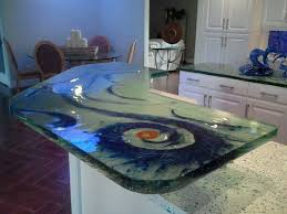 Glass Kitchen Countertops 43 Best Countertop Glass Images On Pinterest Glass Countertops