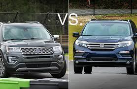 compare honda pilot and ford explorer to honda pilot vs ford explorer u s report