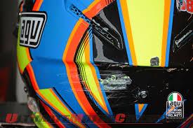 valentino rossi motocross helmet rossi u0027s agv pista gp helmet crash analysis
