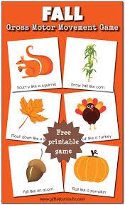 fall gross motor movement game free printable gift of curiosity