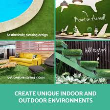 20 sqm synthetic turf artificial grass plastic olive plant lawn