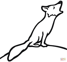 red fox coloring pages free coloring pages