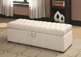 Cushioned Storage Bench Fascinating White Storage Bench For Bedroom Storage Bench White