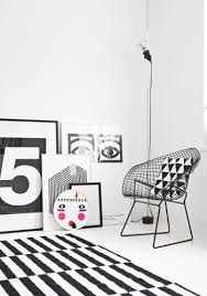 All About Patterns – Black & White Decor in Danish Apartment