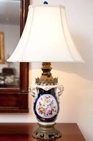 Antique Porcelain Table Lamps 19th Century German Porcelain Table Lamp On Brass Base Antique