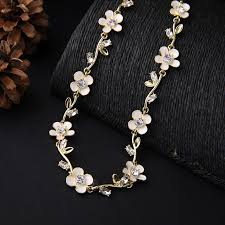 ladies gorgeous elegant wedding necklace chokers enamel white