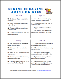 spring cleaning list free printable for kids edventures with kids