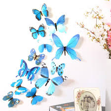 5 colors diy 3d stickers wall stickers butterfly shopi dopi 5 colors diy 3d stickers wall stickers butterfly