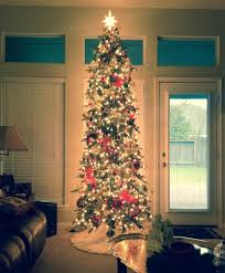 decor tips beautiful slim tree with led light for awesome