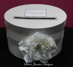 diamond mesh ribbon white bling wedding card box with diamond mesh by sweetjonesin