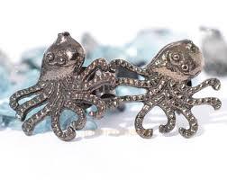Seeking Octopus Octopus Studs Etsy