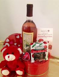 wine gifts delivered decorations wine and chocolate idea for valentines day gift in a