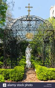 Botanical Gardens New Orleans by Our Mother Of Perpetual Help Chapel New Orleans Stock Photo