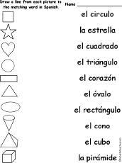 10 best las formas en espanol images on pinterest the shape
