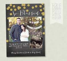 so blessed pregnancy announcement holiday card cute holiday