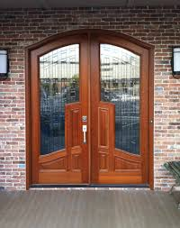 glass and wooden doors arched top mansion doors