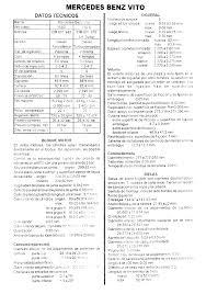 manual taller mercedes mb vito 108 110d v230td documents