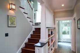 Craftsman Sconce Stair Design Staircase Craftsman With Light Gray Under Stair
