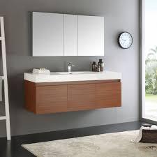 fresca mezzo whiteteak 60 inch single sink bathroom vanity with