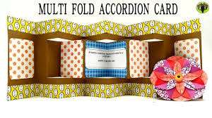 tutorial scrapbook card multi fold accordion card for teacher s day diy handmade