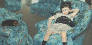 Madame Cezanne In A Red Armchair Little In A Blue Armchair By Mary Cassatt Galleryintell