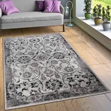 designer teppiche designer teppich wohnzimmer modern kreuz muster in grau schwarz