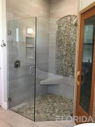 hinged glass shower door shower doors custom frameless shower doors florida shower doors