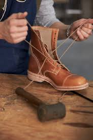 making the coulter 9 eye boot leather boots