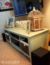remodelaholic turn an entertainment center into a tv console table