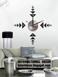modern wall decals for living room modern wall decal clock shapes for living room