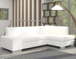 canapé d angle blanc et noir canapé d angle avec couchage et coffre de rangement
