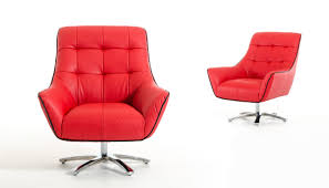Red Leather Chair Divani Casa Zinnia Modern Red And Black Eco Leather Lounge Chair