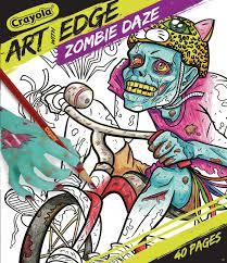 crayola art edge zombie daze collection coloring pages toys