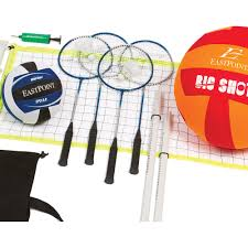 eastpoint sports volleyball and badminton set walmart com