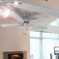 led 9 watt design 5 flügel decken ventilator klima amazon de
