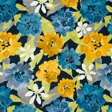Navy And Green Curtains Navy Blue And Yellow Floral Upholstery Fabric Modern Blue