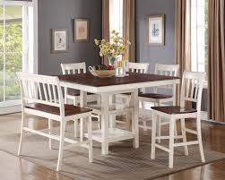 How Tall Is A Dining Room Table by Nyla Counter Height Dining Table U2013 Antique White And Cherry The