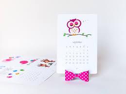 design your own desk calendar 2018 printable kids calendar diy animal calendar cute