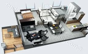 3d cut section apartment visualization3d living room design