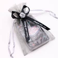 personalized goodie bags personalized organza favor bags personalized ribbons favor