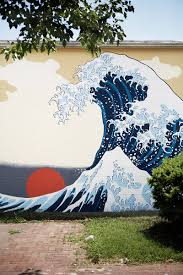 japanese wave wall mural wish i knew who did this design japanese wave wall mural wish i knew who did this