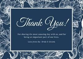 wedding thank you card templates canva